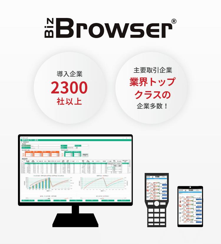 BizBrowser 導入企業2300社以上 主要取引企業業界トップクラスの企業多数!